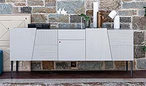 Mueble tv 5 puertas 1 cajón retro Morgan