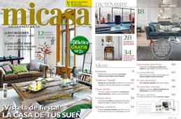 Revista MiCasa - Diciembre 2016 Portada y Página 3