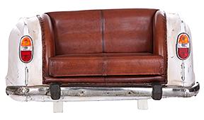 Sofá vintage coche parte trasera