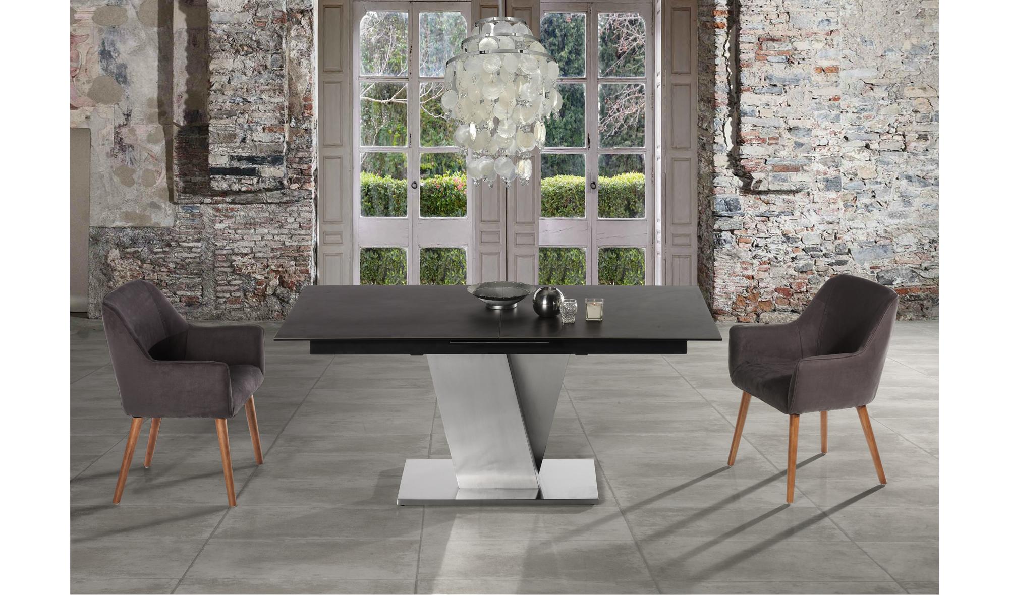 Mesa de comedor extensible moderna nina en - Mesas de comedor modernas italianas ...