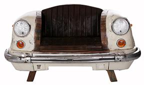 Sillón vintage frontal coche autentico