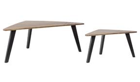 Set 2 mesas de centro retro vintage Ameri