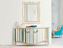 muebles y decoraci�n con rayas