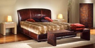Dormitorio Vintage de piel Giove
