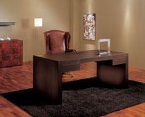 Mesa de escritorio de piel Scrivo