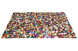 Alfombra rectangular de piel multicolor Alejandra - Alfombras de Piel Natural - Objetos de Decoración