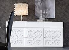 Aparador de diseño 3 puertas 3 cajones Paris Tonin Casa