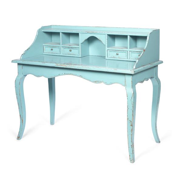 Mesa de escritorio vintage turquesa no disponible en - Escritorio vintage ...