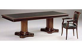 Mesa de juntas doble pedestal rectangular clásico Diana