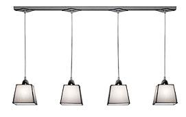 Lámpara de techo regleta 4 luces blanca