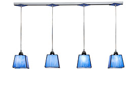 Lámpara de techo 4 luces azul serenity