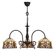 Lámpara de techo 3 luces Tiffany Hexa