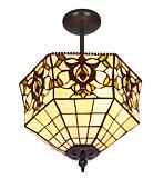 Lámpara de techo Tiffany Hexa pequeña