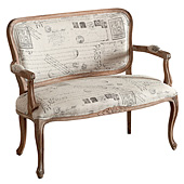 Muebles con telas estampadas con letras en for Sillas tapizadas estampadas