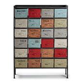 Mueble auxiliar 24 cajones vintage Keywest