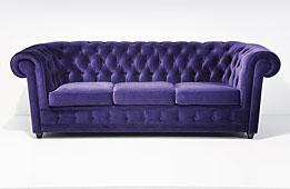 Sofa 3 plazas chester morado Vintage Oxford