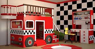 Cama camión de bomberos