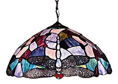 Lámpara de techo Tiffany Libélula