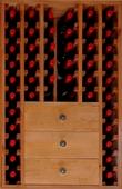 Botellero en pino para 46 botellas - Muebles Bar Coloniales y Rústicos - Muebles Coloniales y Muebles Rústicos