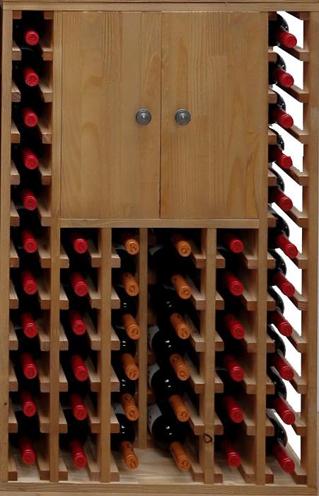 Botellero pino con 2 puertas en - Muebles para vino ...