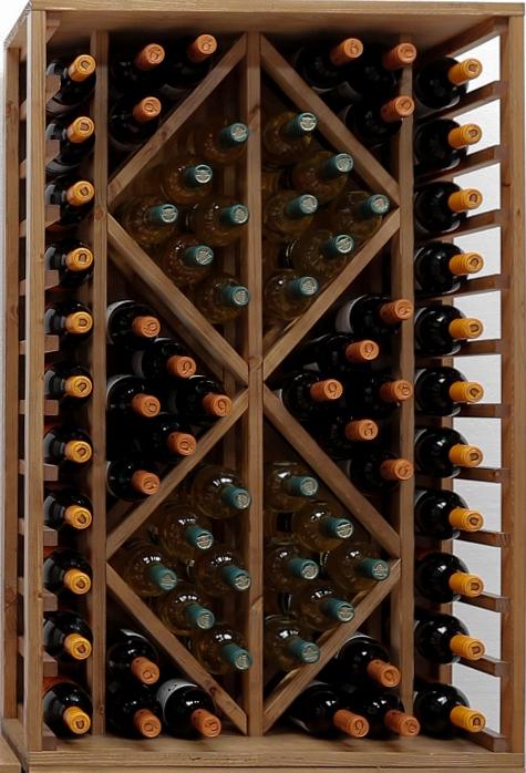 Botellero Pino Con Capacidad Para 60 Botellas
