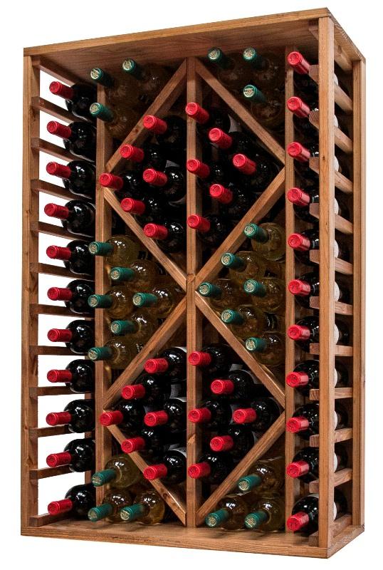 Botellero pino con capacidad para 60 botellas en cosas de - Botelleros para bares ...