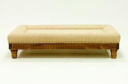Mesa de centro tapizada vintage Marion