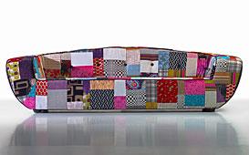 Sofá vintage patchwork Anori