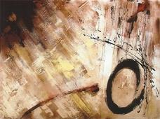 Cuadro abstracto fuego 09