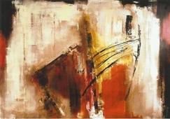 Cuadro abstracto fuego 06