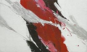 Cuadro abstracto rojo I