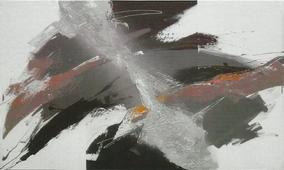 Cuadro abstracto grises I