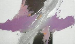 Cuadro abstracto lila I - Cuadros serigrafiados - Objetos de Decoración