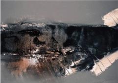 Cuadro abstracto tempestad
