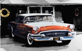 Cuadro coche cubano toldo