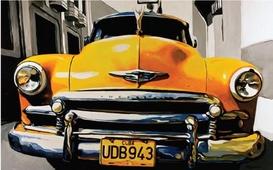 Cuadro frontal coche cubano 06
