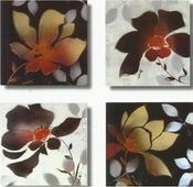 Cuadro flores wengue