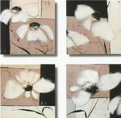 Cuadro flores blancas - Cuadros serigrafiados - Objetos de Decoración