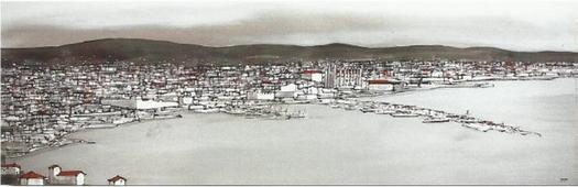 Cuadro Palma de Mallorca puerto