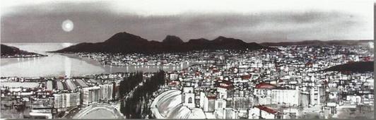 Cuadro Cartagena panorámica