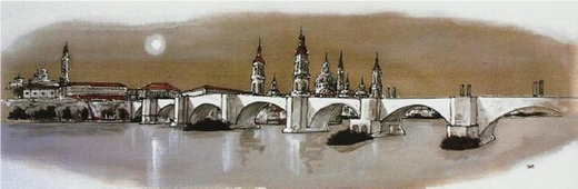 Cuadro Zaragoza puente