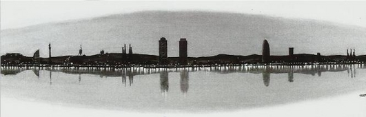 Cuadro Barcelona skyline