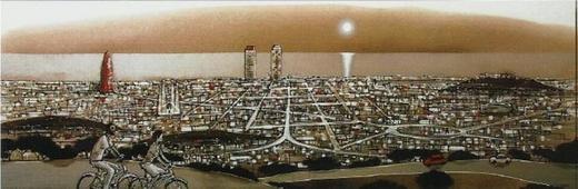 Cuadro barcelona tibidabo - Cuadros serigrafiados - Objetos de Decoración
