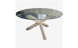Mesa de comedor minimal cristal