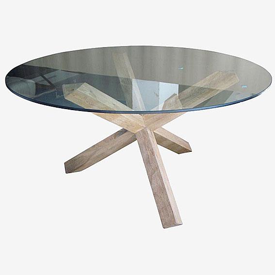 Mesa de comedor minimal cristal en - Mesa comedor redonda cristal ...