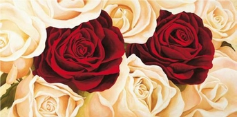 Cuadro canvas rose composition