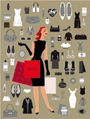 Cuadro canvas woman shopping beige - Cuadros serigrafiados - Objetos de Decoración