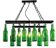 Lámpara de techo Botellas Cerveza