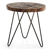 Mesa auxiliar redonda Vintage Afton