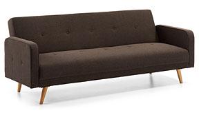 Sofá cama retro marrón Roger